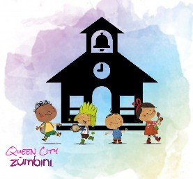 Zumbini characters at a school